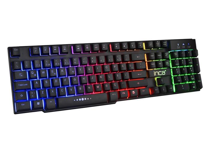 INCA IKG-446 Rainbow Aydınlatmalı Mekanik Hisli Oyuncu Klavyesi