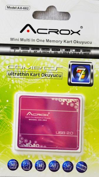 Acrox AX-682 USB 2.0 Harici TF Kart Okuyucu