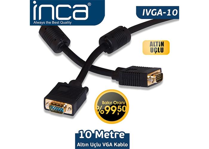 INCA IVGA-10 10MT VGA KABLO ALTIN UÇLU BLİSTER