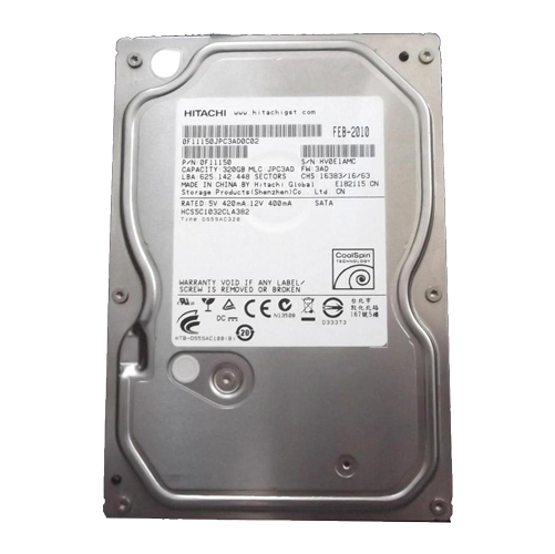"Hitachi 320 Gb 3.5"" Hard Disk HSC5C1032CLA382"