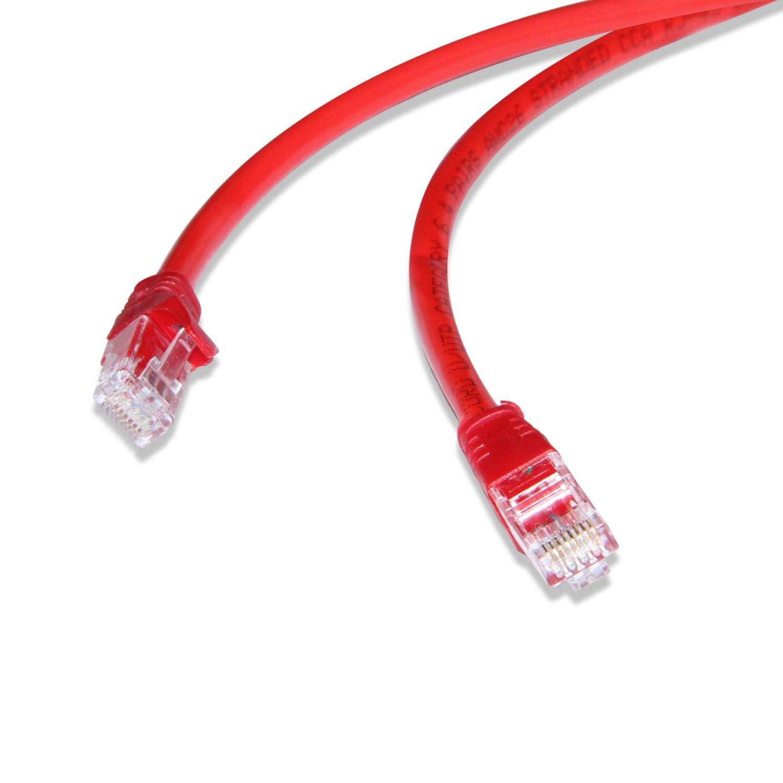 Flaxes FNK-6005K 50 cm CAT6 Kablo Kırmızı