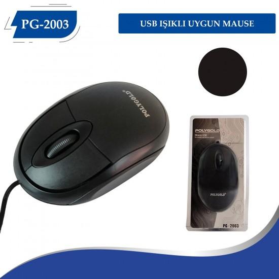 Polygold PG-2003 Siyah Kablolu Mouse