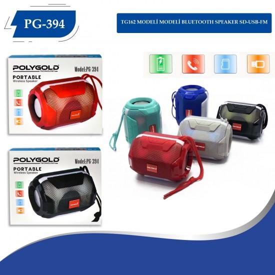 Polygold PG-394 Bluettoth Speaker USB-SD Kart-BT-FM Işıklı