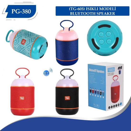 Polygold PG-380 Bluetooth Speaker USB-SD Kart-BT-FM Işıklı