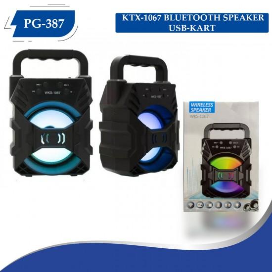 Polygold WKS-1067 Bluetooth Speaker USB-SD Kart-BT-FM Işıklı (PG-387)