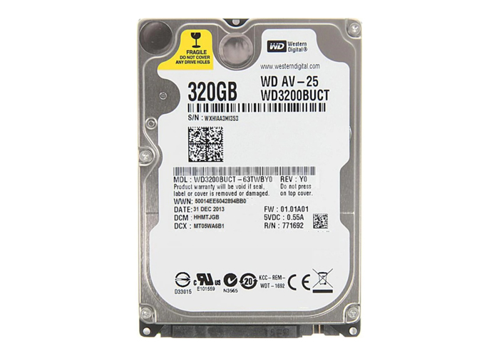 "Western Digital WD3200BUCT 2.5"" 320GB  5400 RPM 16MB Cache SATA 3.0Gb/s Notebook Hard Disk"