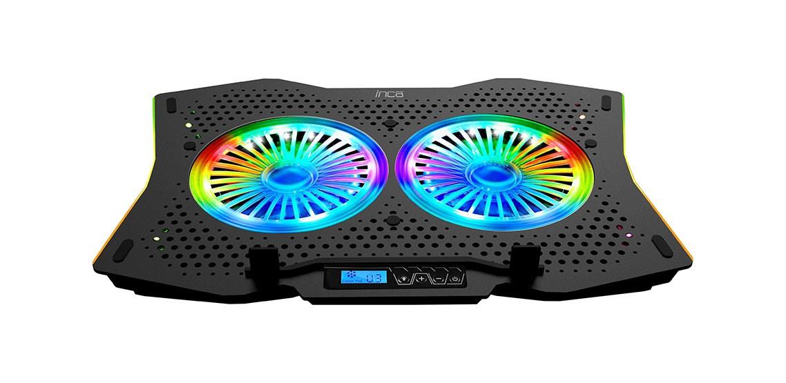 Inca INC-607 GMS Arrax II RGB Aydınlatmalı Fan Hız Ayarlı Gaming Notebook Soğutucu