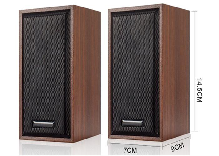 "Snopy SN-385 2.0 USB 5V 80dB Ahşap 2.5"" 3W*2 Speaker"