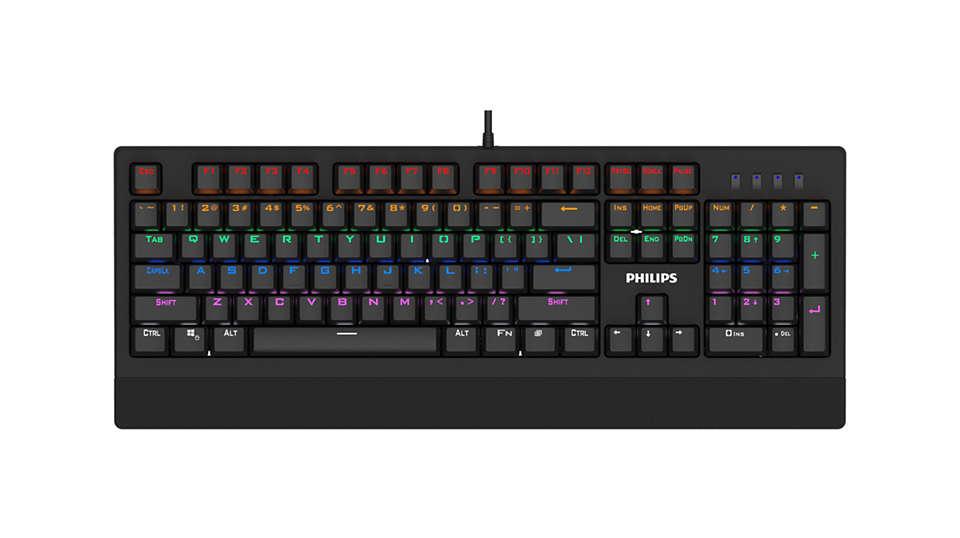 Philips SPK8403 Siyah Rainbow Aydınlatmalı Mekanik Gaming Oyuncu Klavyesi