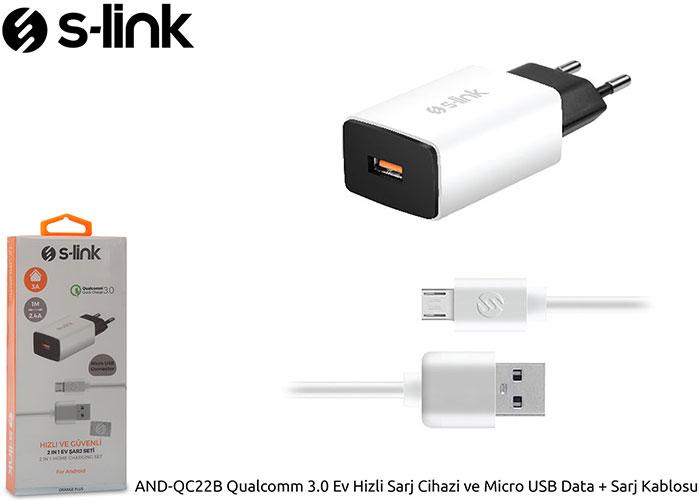S-link AND-QC22B Qualcomm 3.0 Ev Hizli Sarj Cihazi