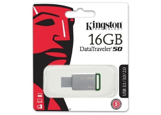 Kingston DT50-16GB 16GB USB 3.1 Metal Kasa Flash Bellek