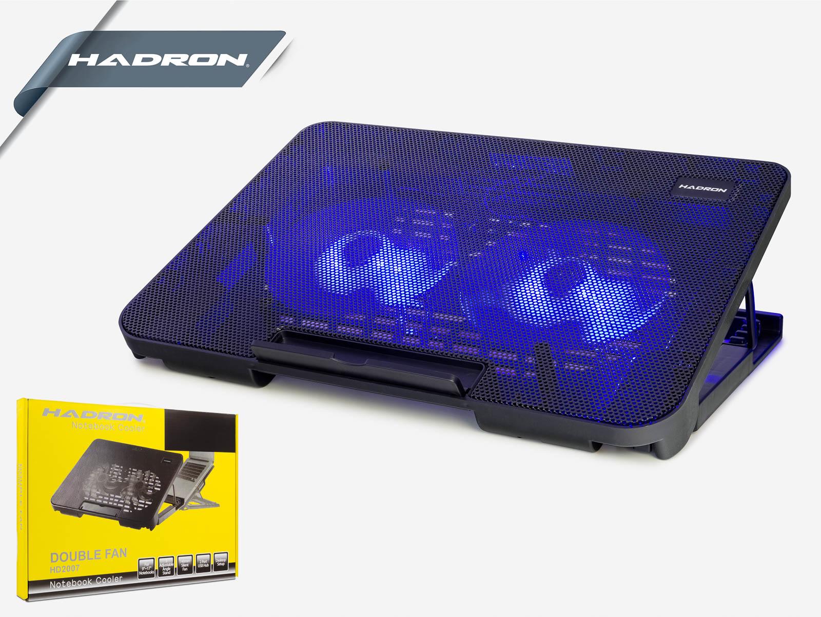 Hadron Hd2007 Notebook Soğutucu Ledli 2 Fanlı