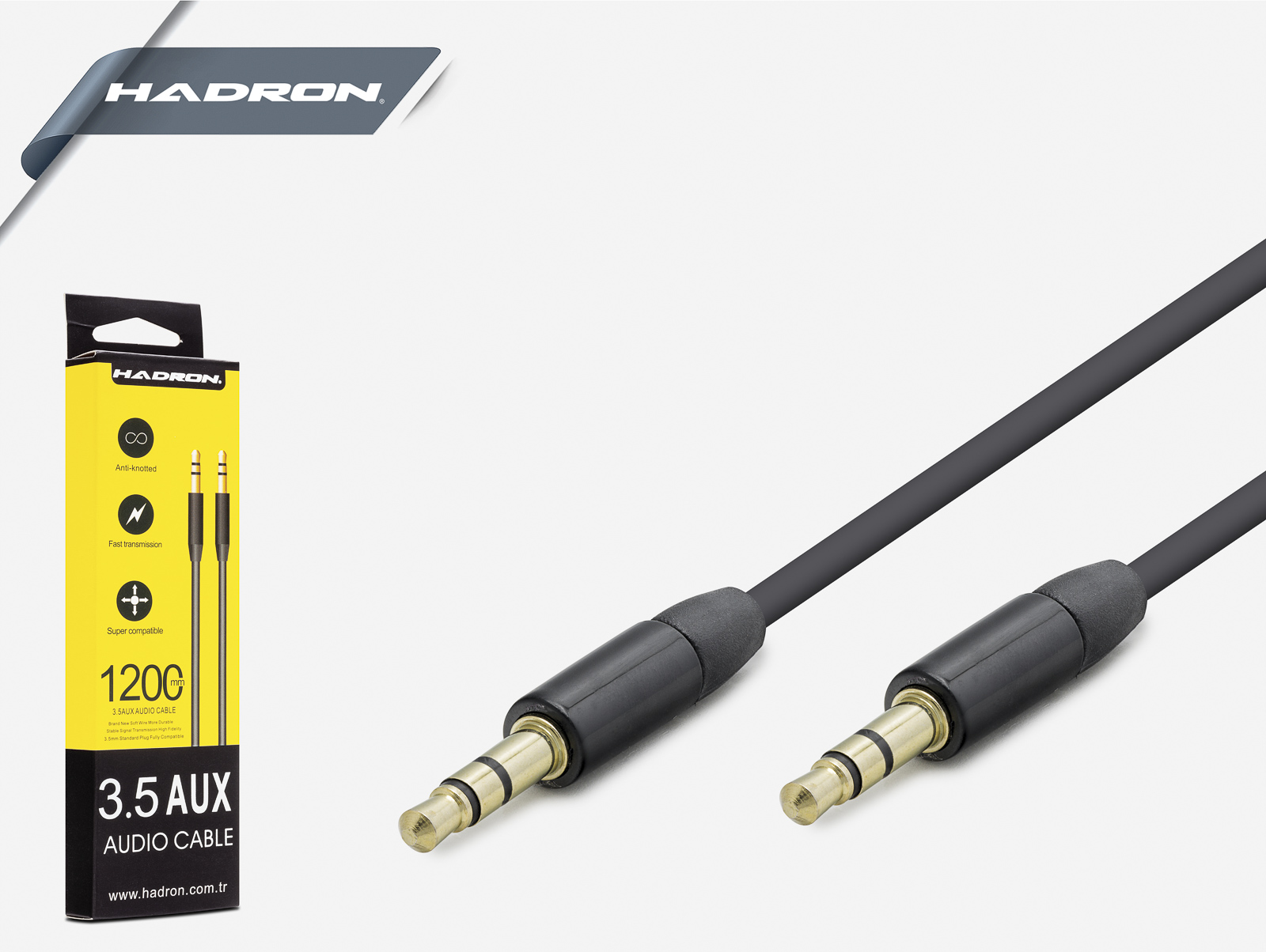 Hadron Hd4308S 3.5 Mm Stereo Gold Kablo 1.1 Metre