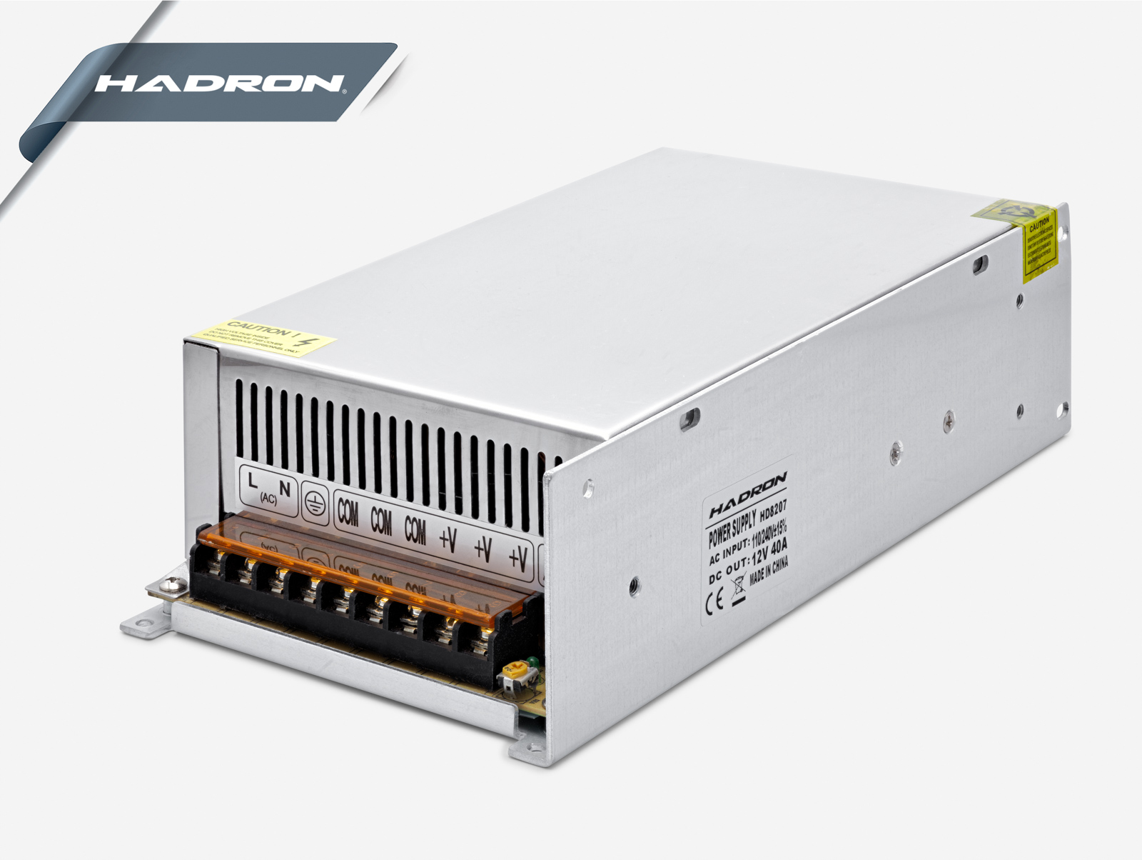 Hadron Hd8207 12V 40A 24*12.5*6.5Cm Metal Adaptör