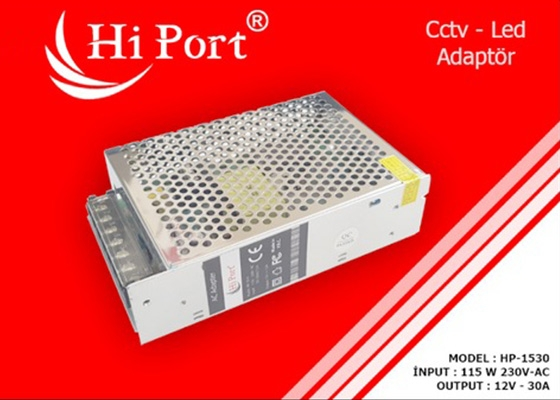 Hi Port Hp-1530 12V 30 Amper Metal Led Adaptör