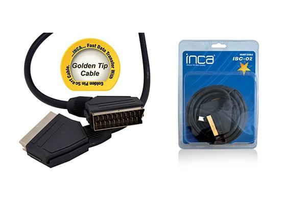 Inca Isc-02 Scart Kablo 3Mt Altın Uçlu (Blister)