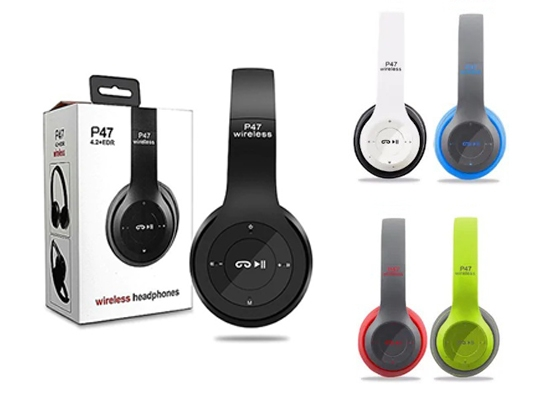 P47 Wireless Bluetooth Kulaklık Mp3 Güçlü Bass Fm