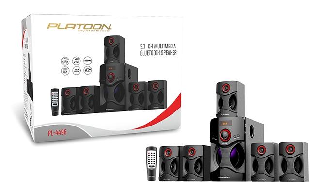 Platoon PL-4496 5+1 USB/SD/FM Bluetooth U.K. Speaker