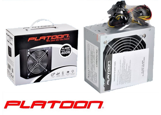Platoon PL-9259 400W Kutulu Power Supply 12Cm