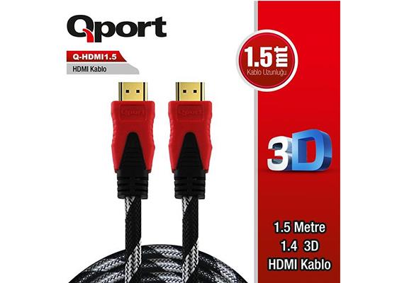 QPORT Q-HDMI1.5 1.5M ALTIN UÇLU HDMI KABLO