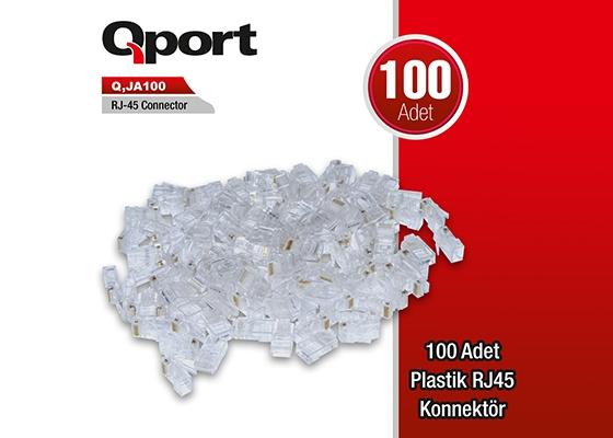 Qport Q-Ja100 100Lük Rj-45 Jack Modüler