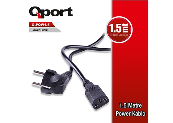 Qport Q-Pow1.5 1.5M Pc Power Kablosu