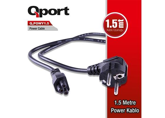 Qport Q-Powy1.5 Power Kablo