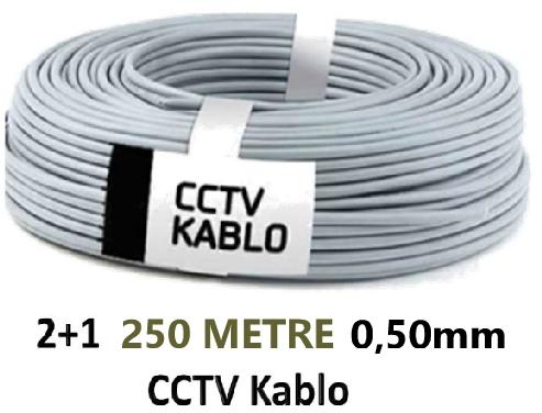 2+1 2X0.50Mm 250M Cctv Kamera Kablosu Rt2250