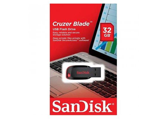 SanDisk 32 GB Cruzer Blade SDCZ50-032G-B35 USB Bellek
