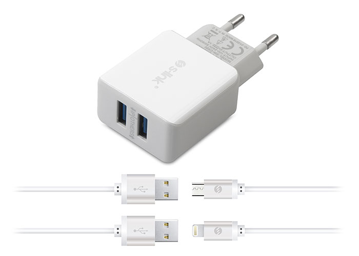 S-link Swapp SW-C650 iPad/iPhone6 - Micro Usb 2.1A