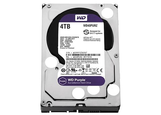 Wd 4Tb 3.5 Sata 64Mb Purple Wd40Purz