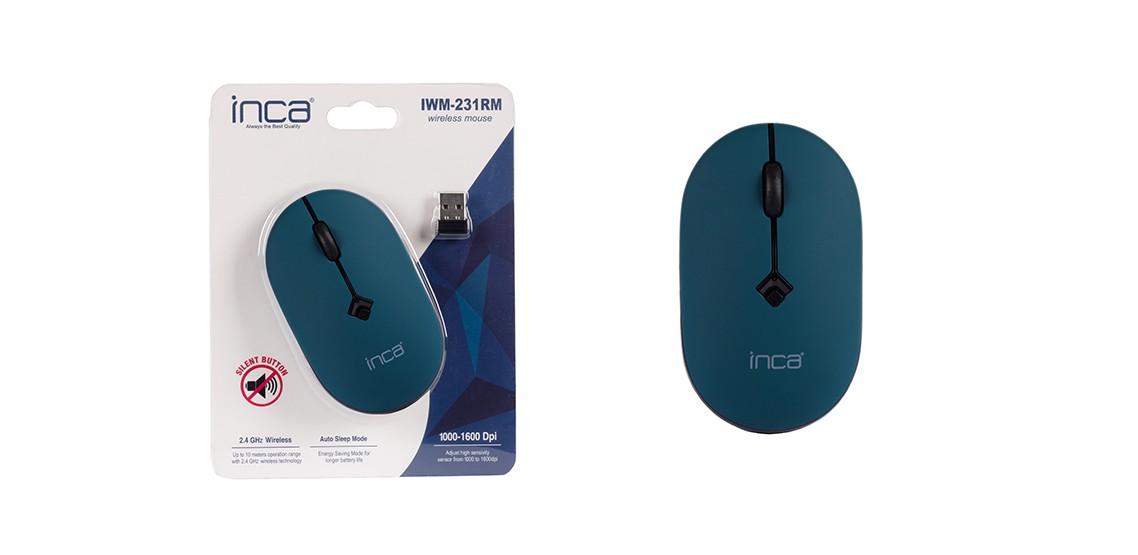 Inca IWM-231RM 1600 Dpi Sessiz Kablosuz Mouse Mavi